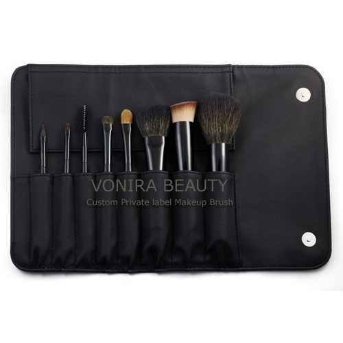 OEM 8PCS Travel Brush Set Makeup Cosmetic Brush Kit