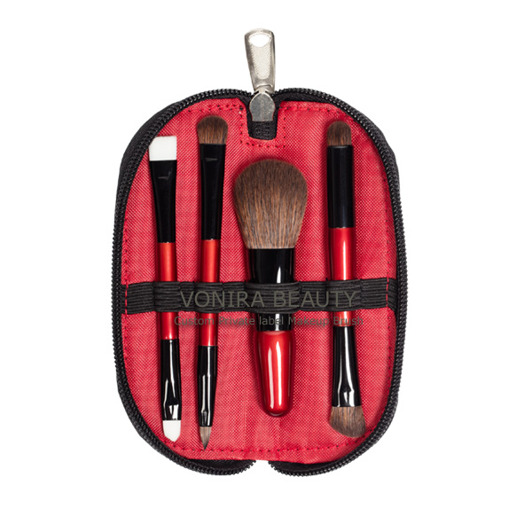 Dual End Mini Cosmetic Brush Case kit