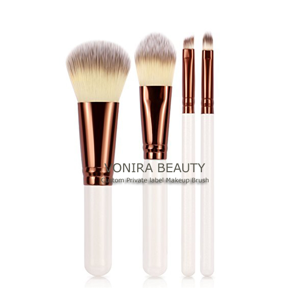 White Handle Makeup Brush Set