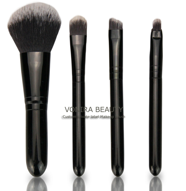Four Pcs Travel Cosmetic Brush Set
