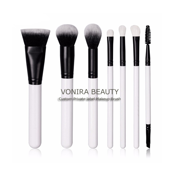 100% vegan & cruelty free gorgeous white professional fabulous makeup brush set