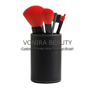 5PCS Travel Brush Set with Cosmetic Jar