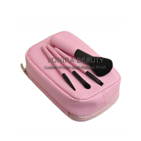 Travel Cosmetic Brush Set -4PCS Pink Set