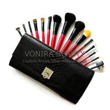 15pcs Black Deluxe Reptile Brush-Wholesale Makeup Brushes Factory