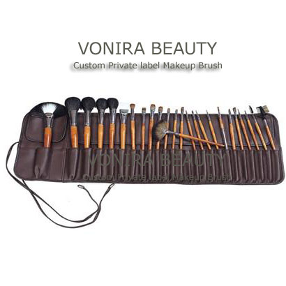 25 pcs Makeup Brush Cosmetic Brush Set, Sable hair makeup brush set makeup brush set