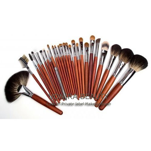 Professional Raccoon Sable Hair Makeup Artist Brush Set
