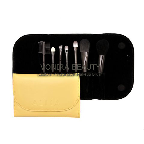 Custom Private Label Travel Cosmetic Brush-Set Nice Wallet