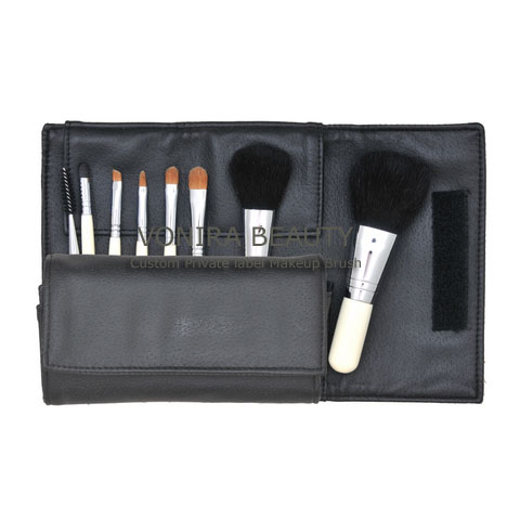 Custom Private Label 8PCS Makeup Brush Set With White Handle OEM Factory