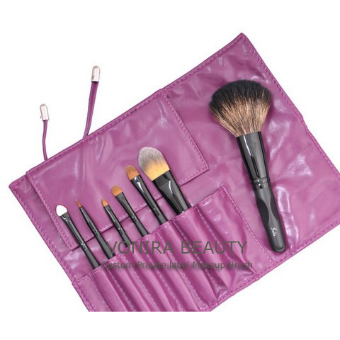 Purple Cosmetic Brush Kit