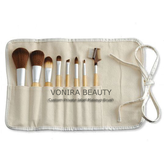 8 Piece Eco Brush Set and Brush Roll