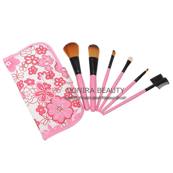 Custom Mineral 6pcs Portable Makeup Cosmetic Brushes Kit