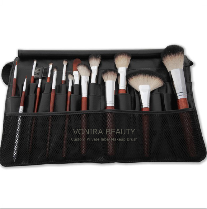 Product nameuff1a Italian Badger Makeup Brushes w Brush Tool Belt