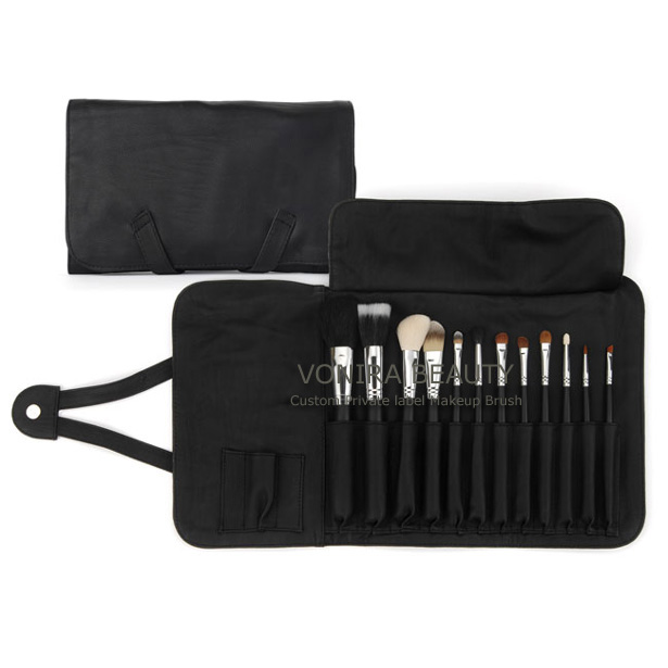 Basic 12Pcs Makeup Brushes With Case-Custom OEM Private Label