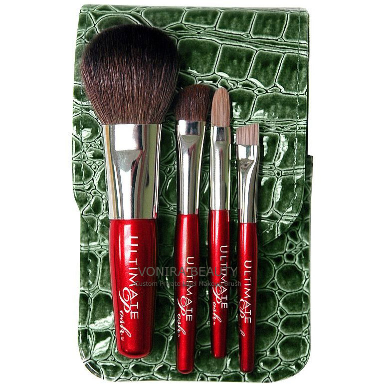 4pcs Lovely Mini Cosmetic Brush Set-Custom OEM Private Label