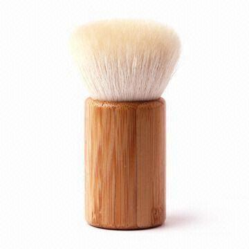 Bamboo Makeup Kabuki Brush with Goat Hair and Bamboo Base, OEMODM Orders are Welcomec