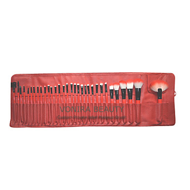 32PCS High Quality Professional Makeup Brush Set with Free Red Leather Pouch