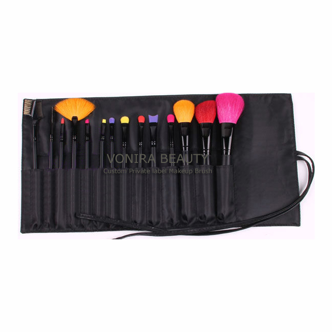 Private Label New Design 14PCS Makeup Brush With Colors