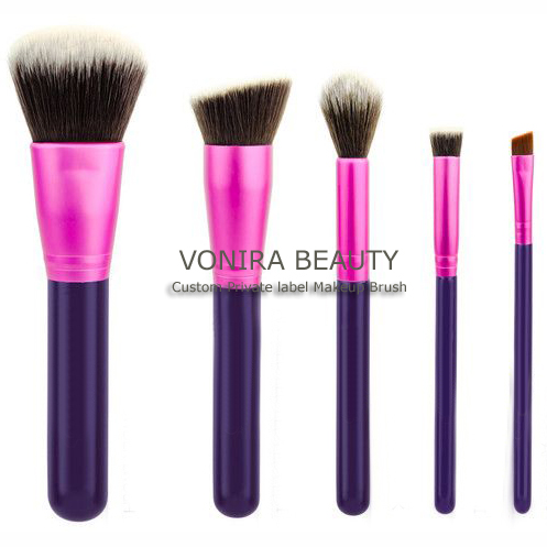 Private Label Taklon hair Pink Makeup Brushes-Brand New For Spring and Summer Season