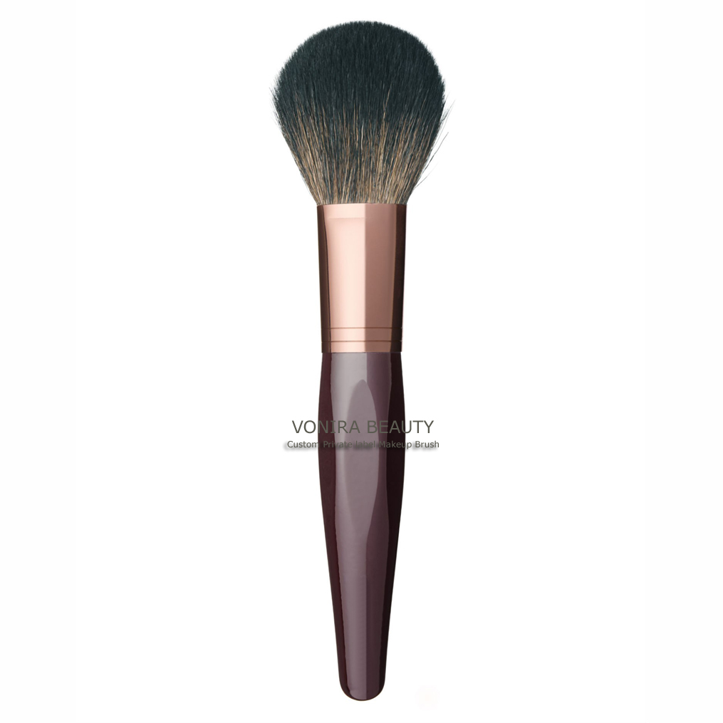 Dark Brown Gold Makeup Bronzer Brush