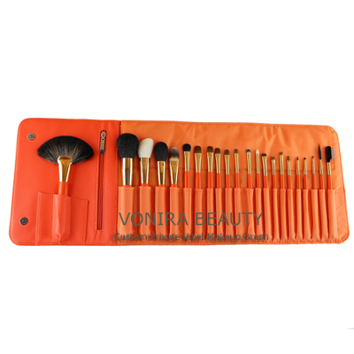 Fashion Orange Makeup Brush Kit